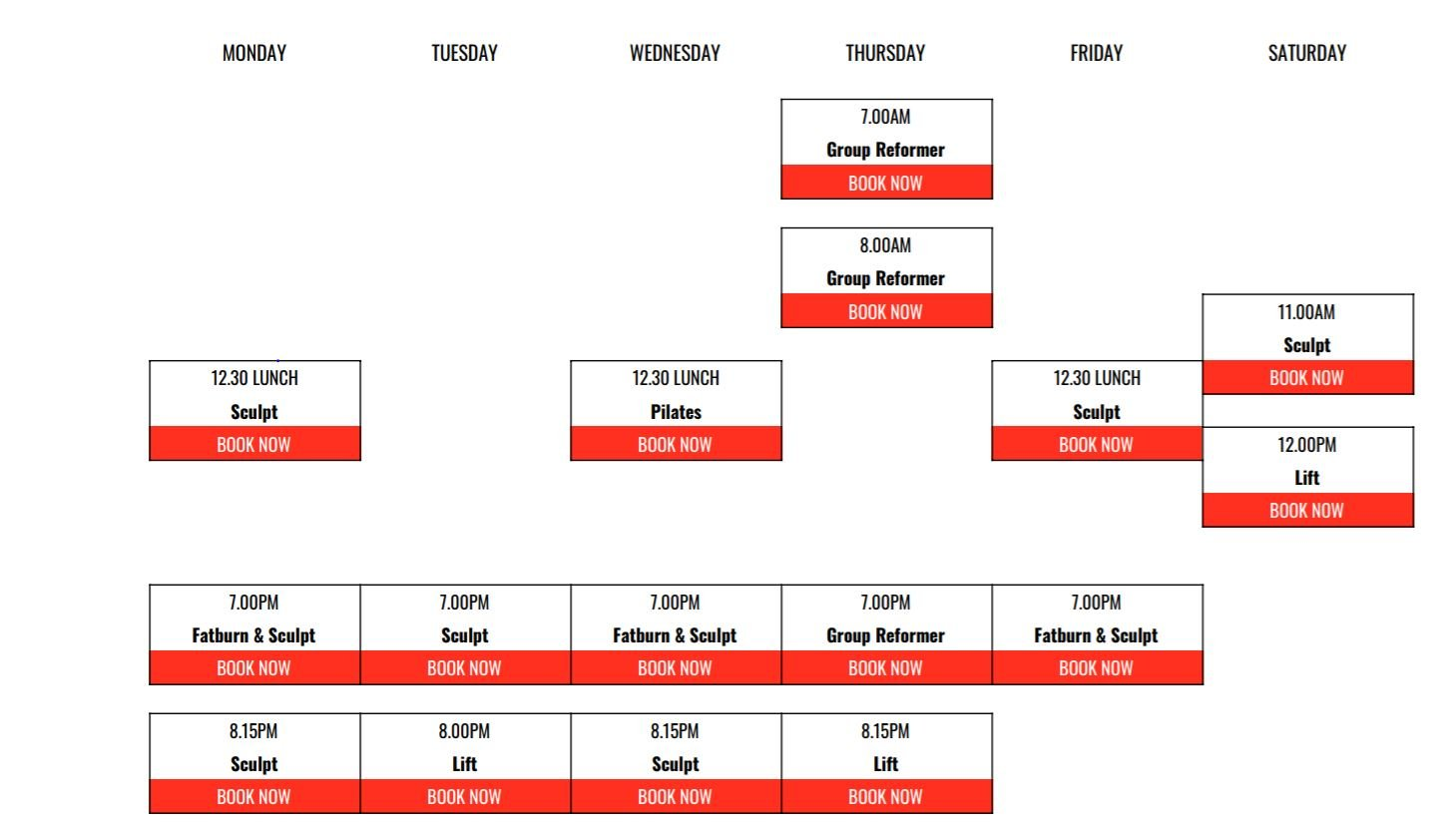 fit n fierce group class schedule